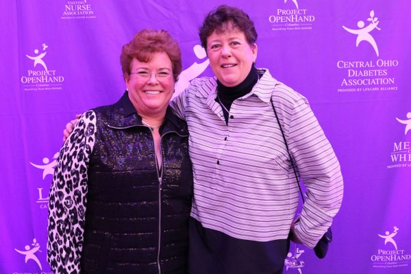 From left, Karen Cookston and Kellie Green. Big Wheels 2018. Feb. 3, 2018, Photo by Anthony Clemente, LifeCare Alliance.
