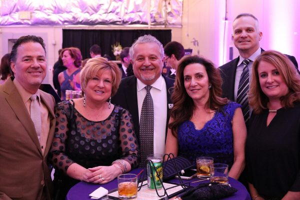 From left, Mike Parisi, Betsy Blake, Dino Lanno, Rose Arcaria, Paul Groves, Tracy Groves. Big Wheels 2018. Photo by Anthony Clemente, LifeCare Alliance.