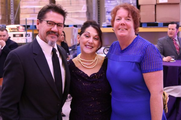 From left, Marcus Newkirk, Beverly Newkirk, Meg Kelley. Big Wheels 2018. Feb. 3, 2018, Photo by Anthony Clemente, LifeCare Alliance.