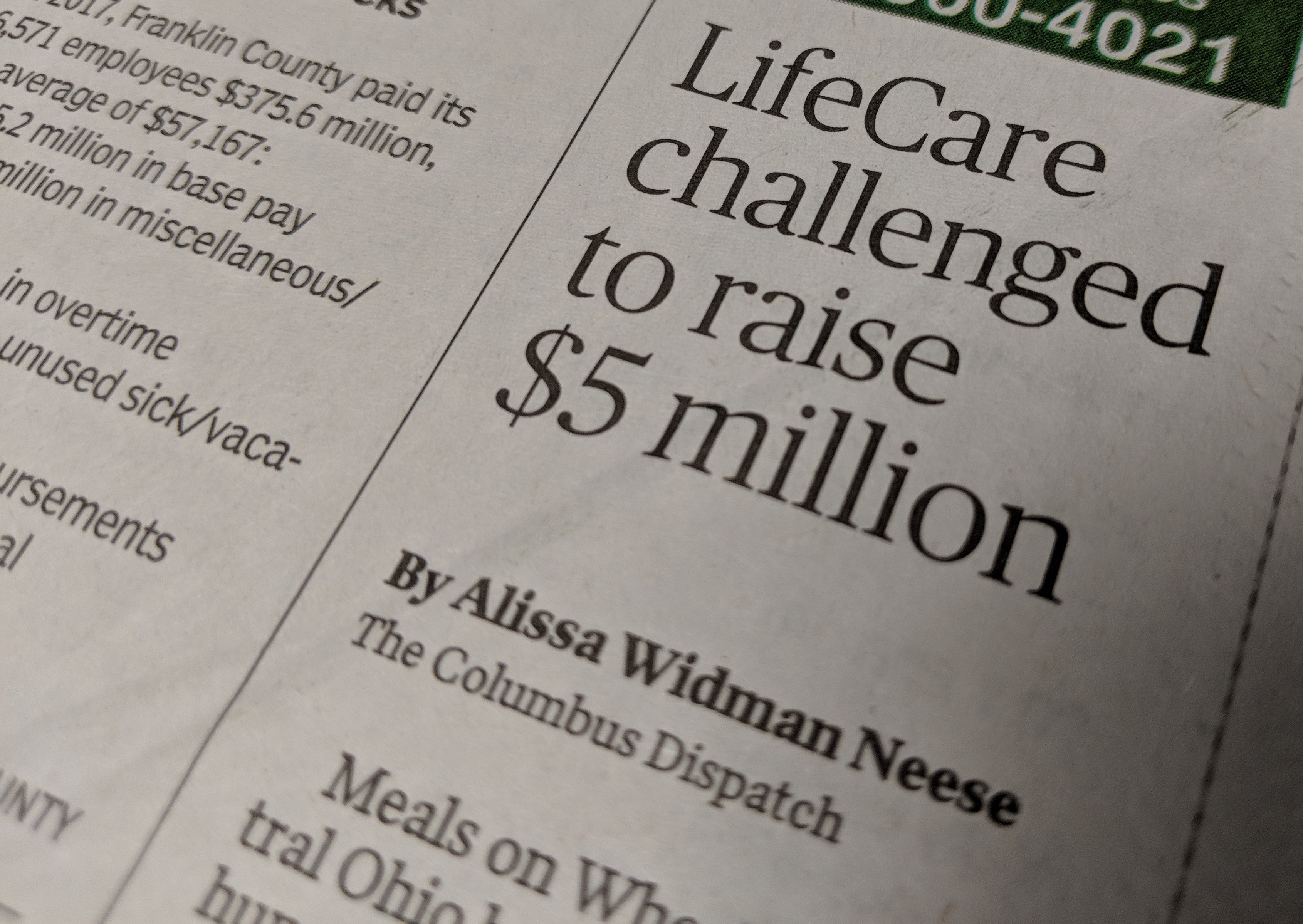 $5 Million Match Campaign Featured in The Columbus Dispatch