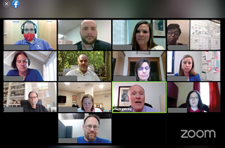 Screenshot of Zoom conference