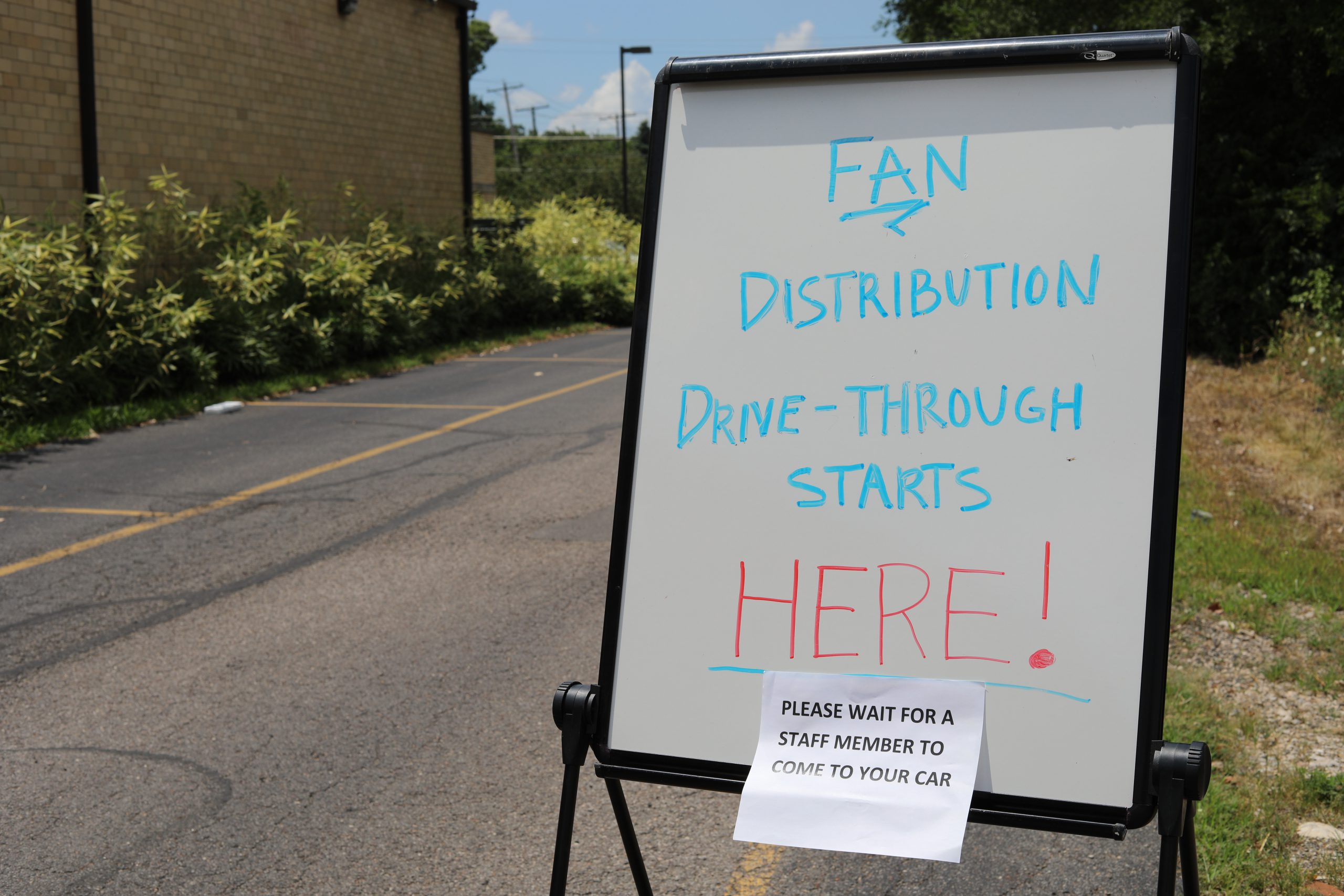 Fan Campaign Drive-Through sign
